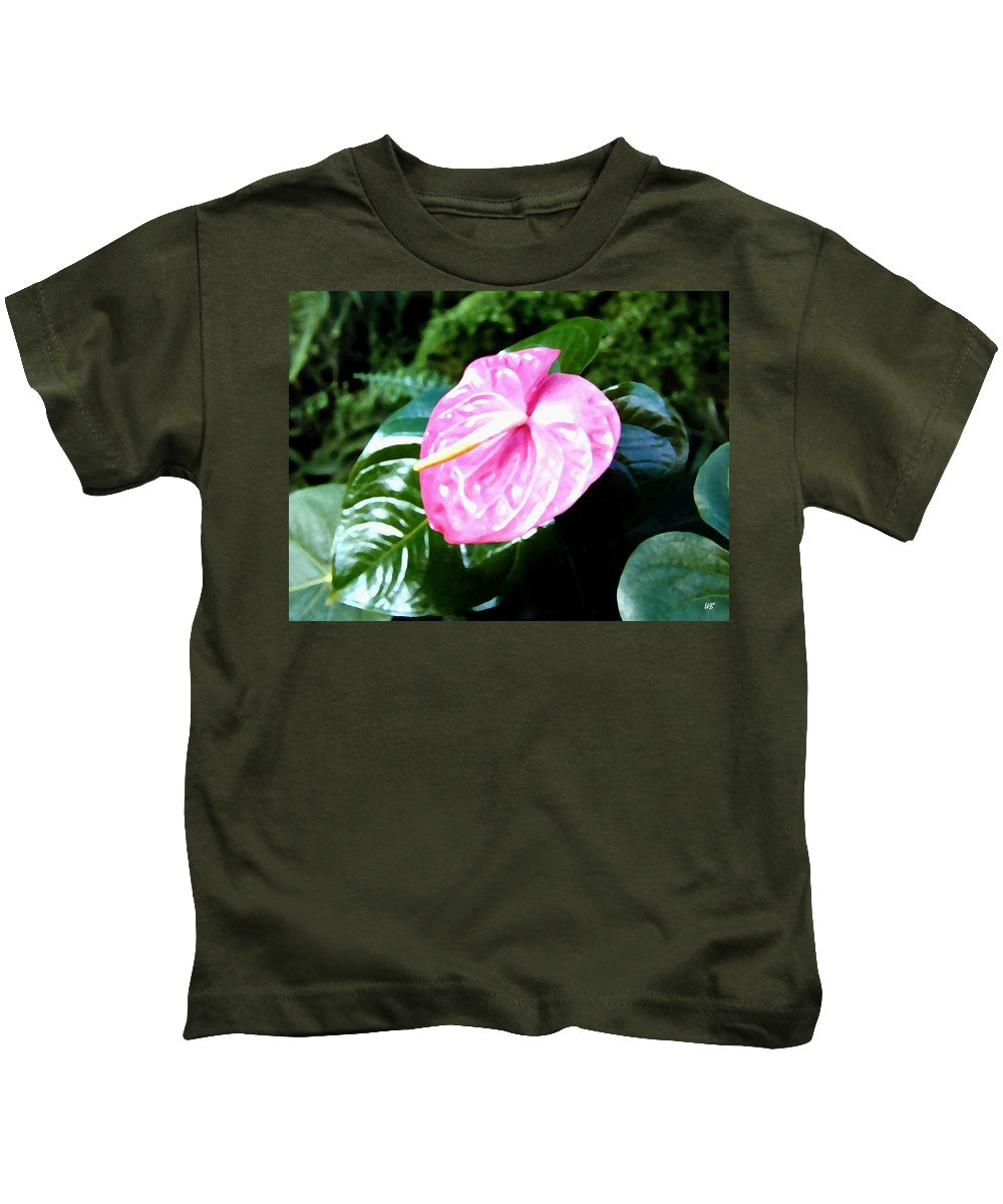 1986 Kids T-Shirt featuring the digital art Anthurium by Will Borden