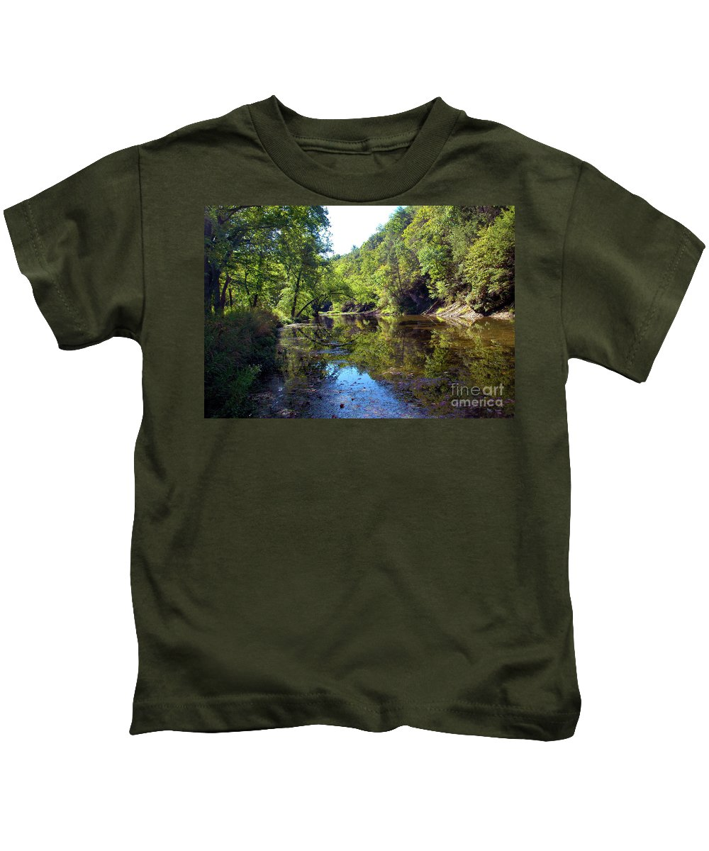 Appalachians Kids T-Shirt featuring the photograph Appalachian Mirror II by Broken Soldier