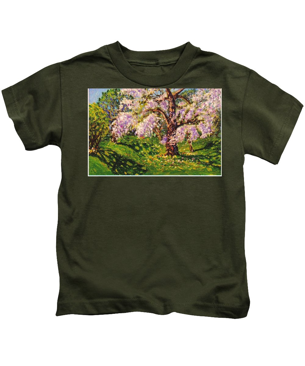 Scenic Kids T-Shirt featuring the painting April Dream by Jonathan Carter