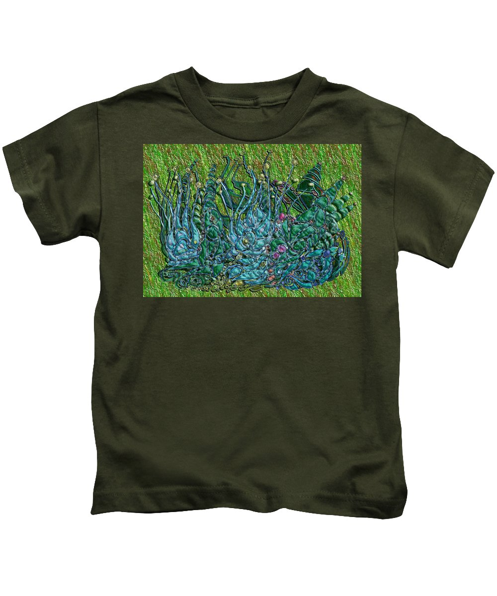 Digital Kids T-Shirt featuring the digital art Arboretum by Mark Sellers