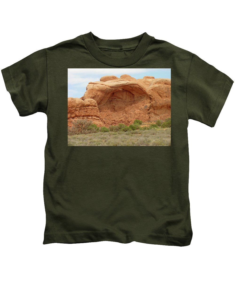 Arches National Park Kids T-Shirt featuring the photograph Arches Formation 36 by Dawn Amber Hood