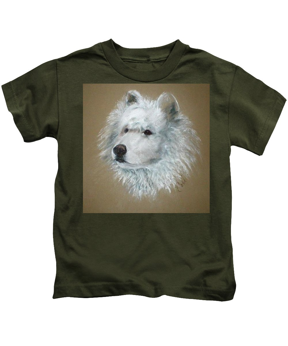 Pastel Kids T-Shirt featuring the drawing Arctic Majestry by Cori Solomon