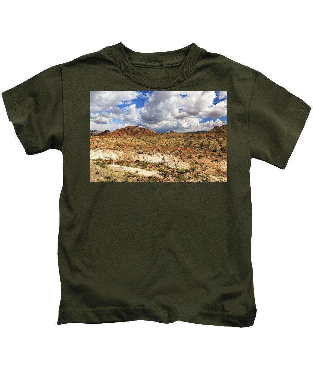 Landscape Kids T-Shirt featuring the photograph Arizona Cliffs by James Eddy