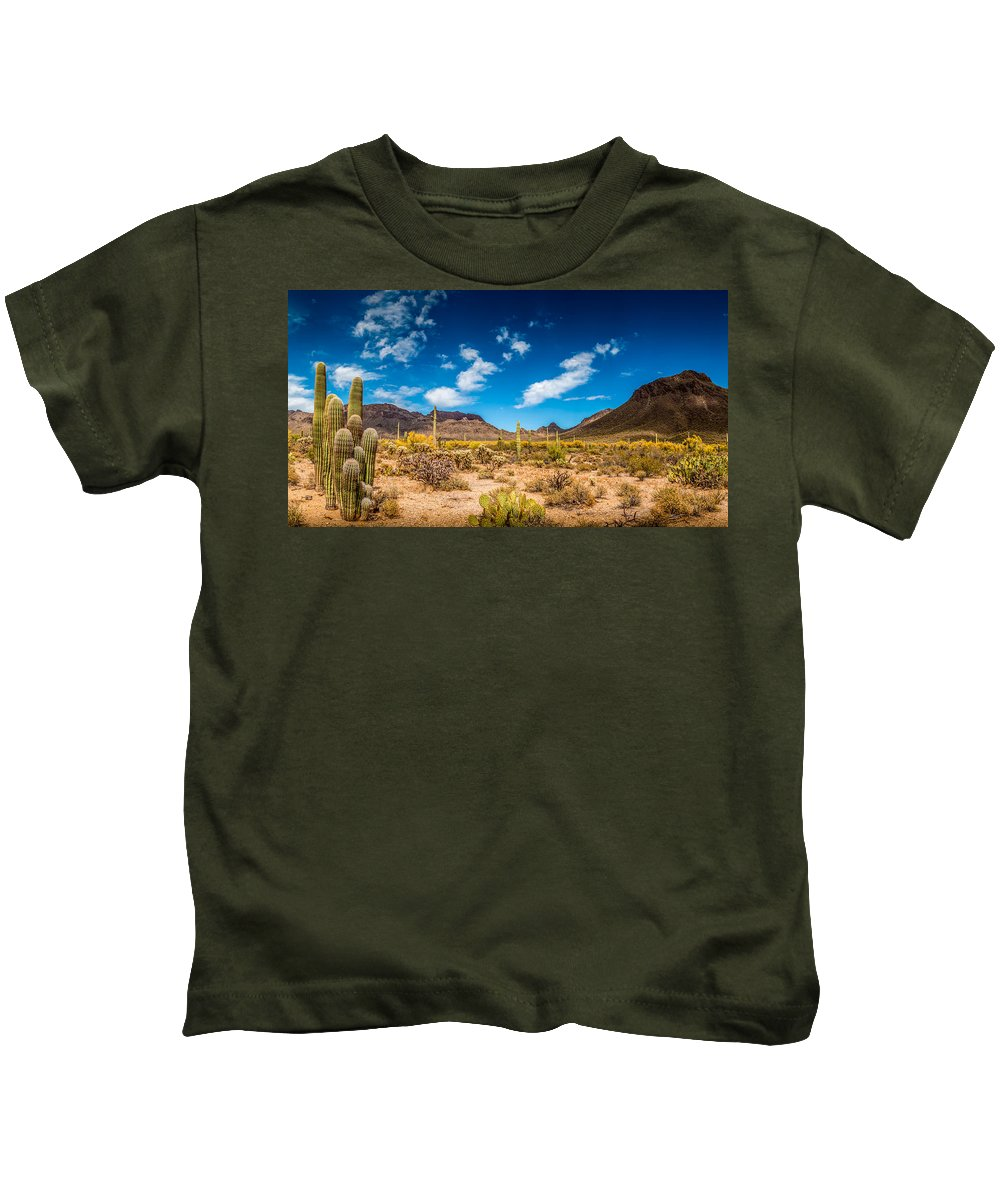 Superstition Kids T-Shirt featuring the photograph Arizona Desert #2 by Jon Manjeot