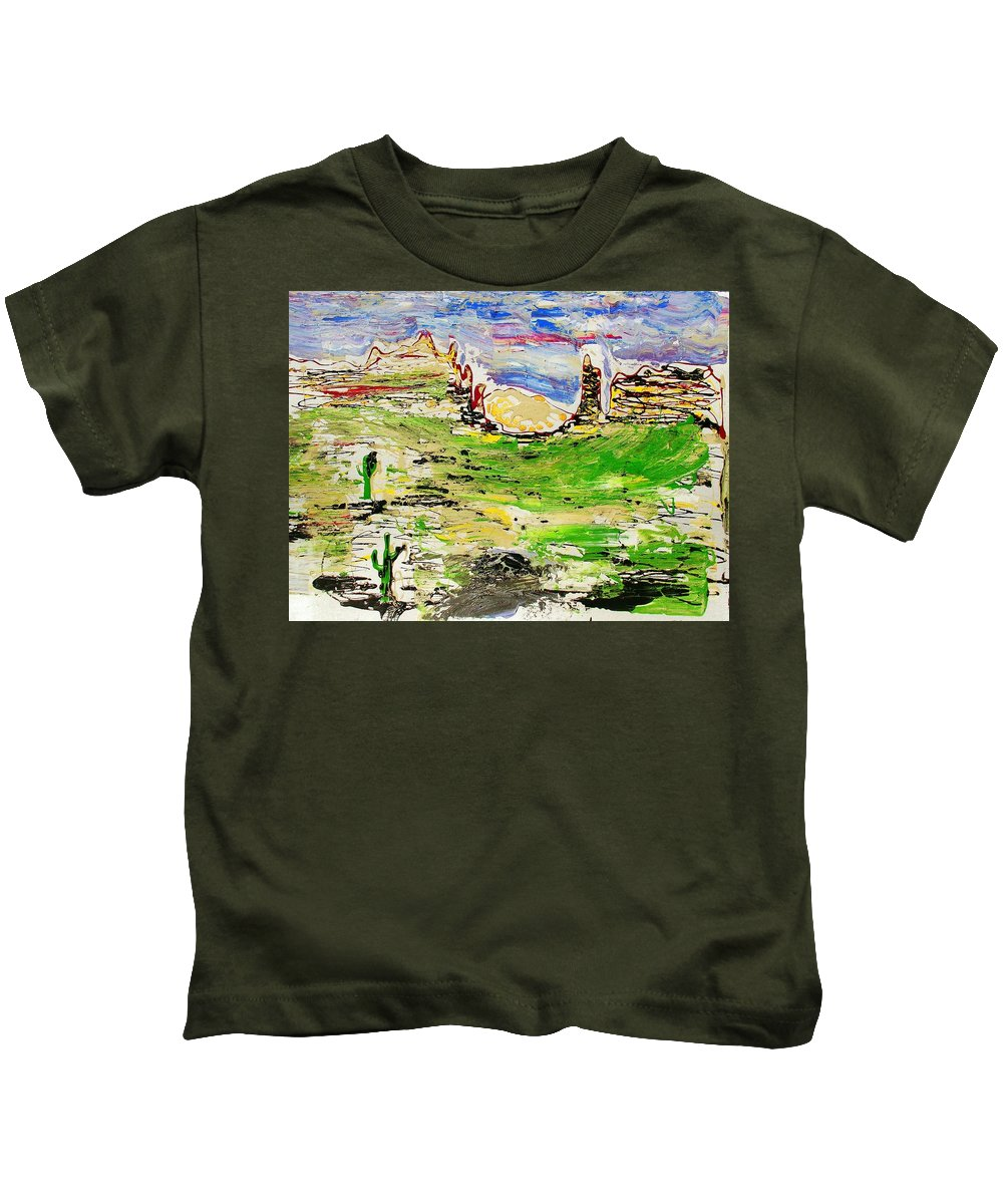 Cactus Kids T-Shirt featuring the painting Arizona Skies by J R Seymour
