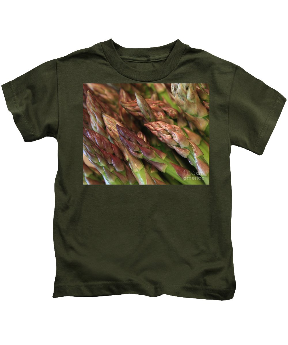 Asparagus Kids T-Shirt featuring the photograph Asparagus Tips by Carol Groenen