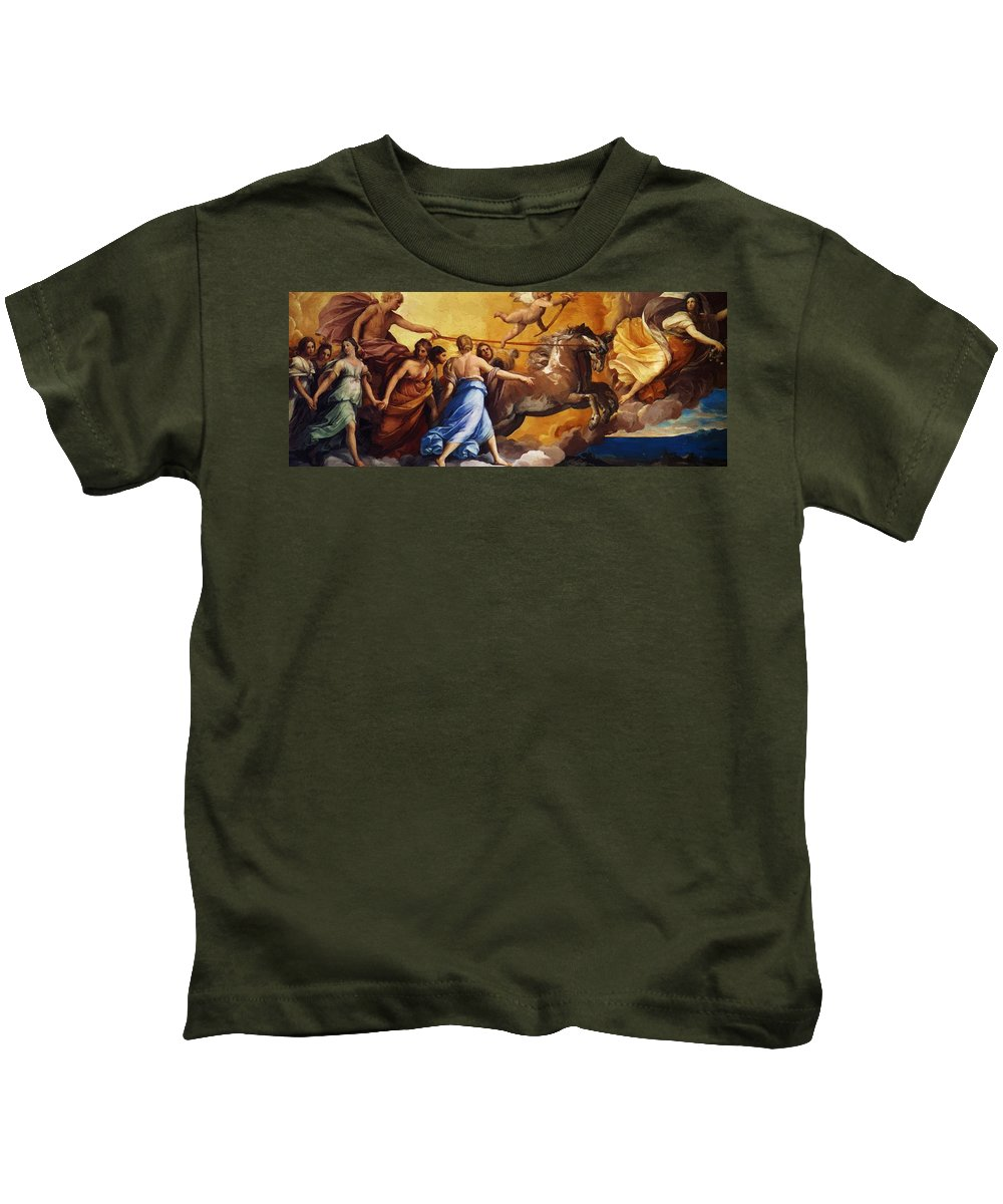 Aurora Kids T-Shirt featuring the painting Aurora 1614 by Reni Guido