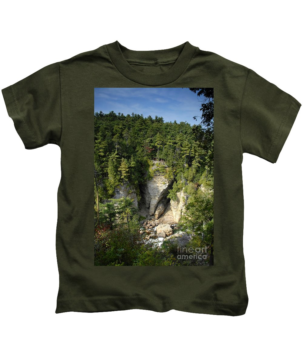 Ausable Chasm Kids T-Shirt featuring the photograph Ausable Chasm by David Lee Thompson
