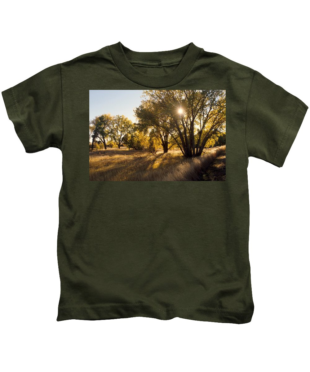 Fall Kids T-Shirt featuring the photograph Autum Sunburst by Jerry McElroy