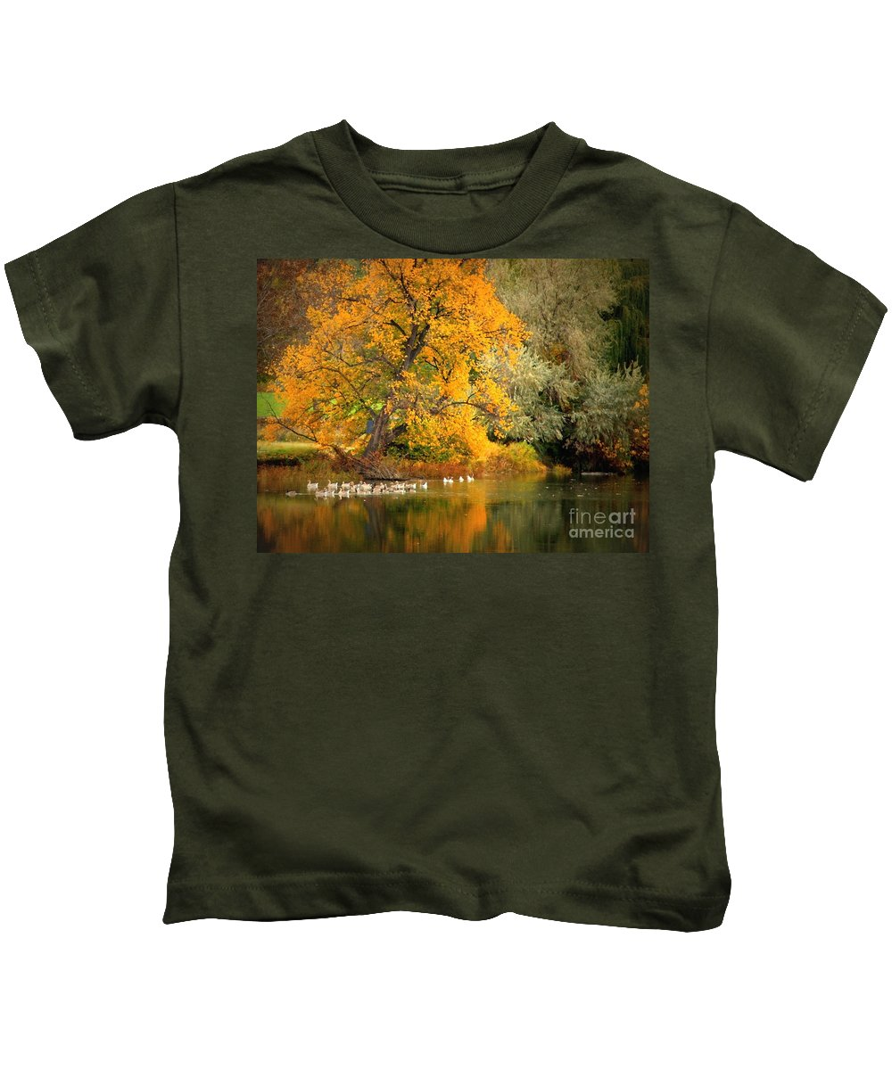Fall Kids T-Shirt featuring the photograph Autumn Calm by Carol Groenen