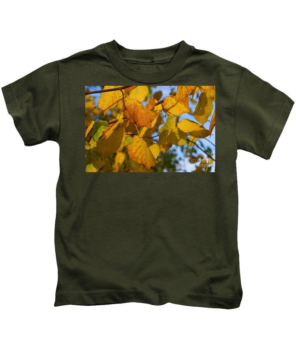 Autumn Kids T-Shirt featuring the photograph Autumn by Carol Lynch