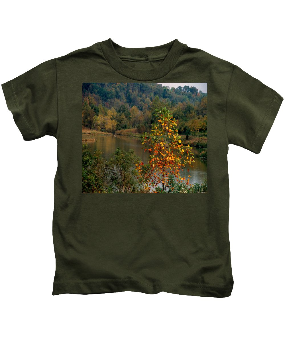 Fall Colors Kids T-Shirt featuring the photograph Autumn Colors by Gary Wonning