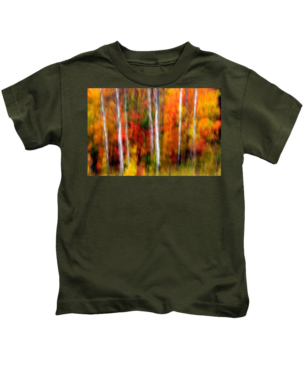 Canada Kids T-Shirt featuring the photograph Autumn Dreams by Doug Gibbons