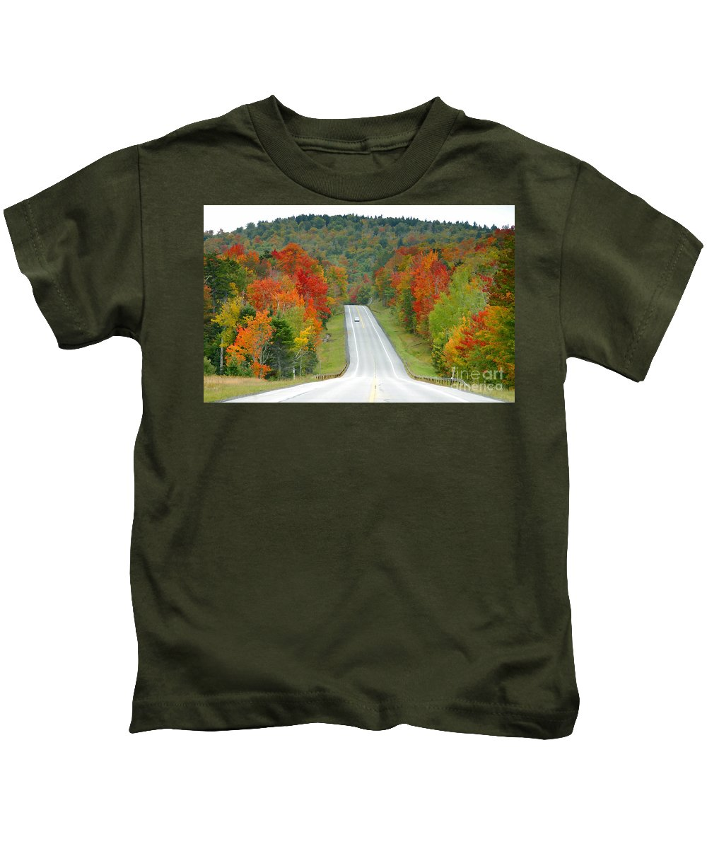 Autumn Kids T-Shirt featuring the photograph Autumn Drive by David Lee Thompson