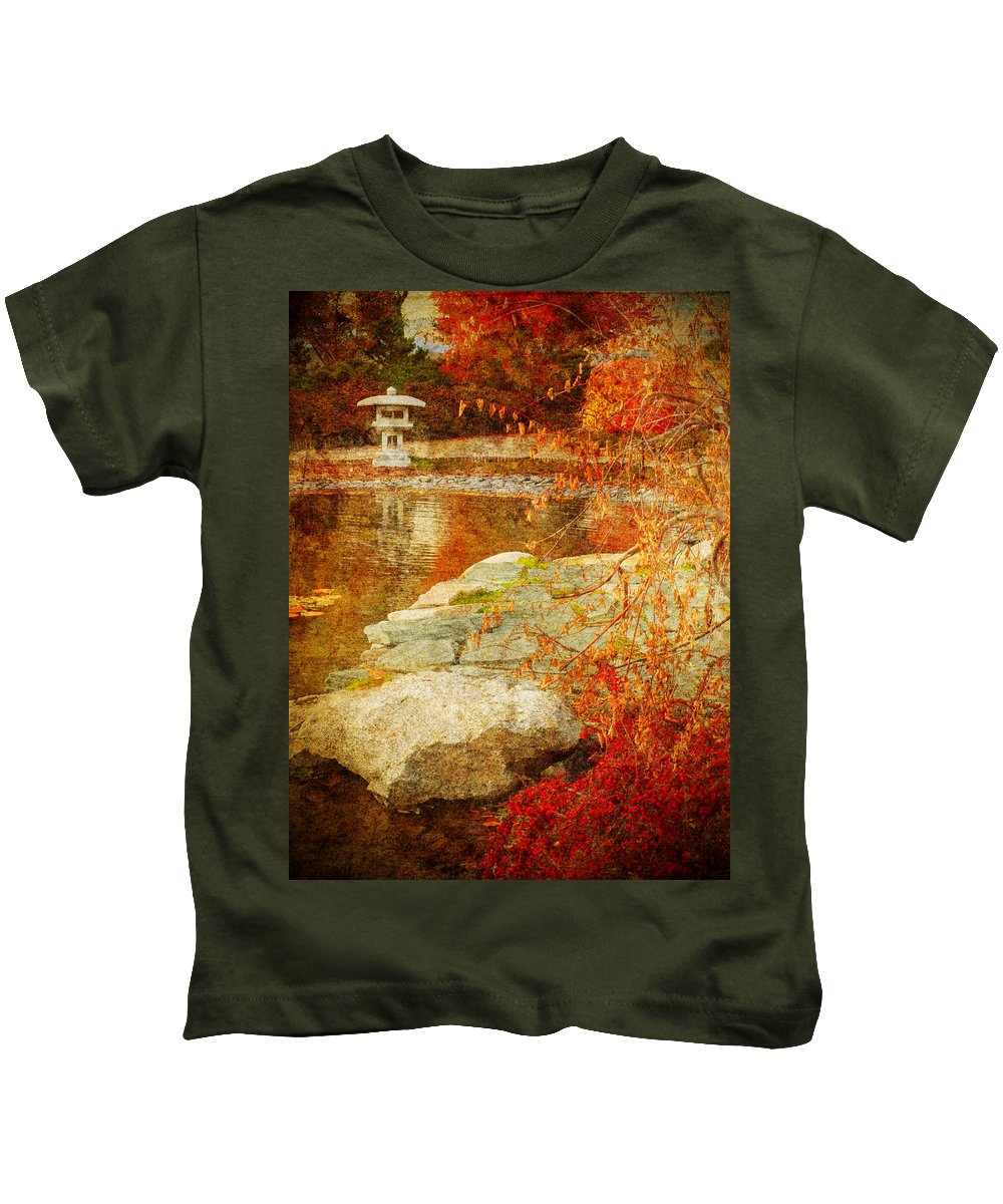 Autumn Kids T-Shirt featuring the photograph Autumn In The Gardens by Tara Turner