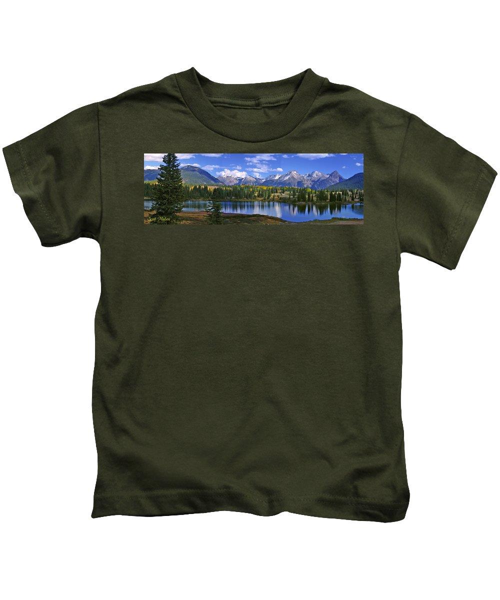 Lake Kids T-Shirt featuring the photograph Autumn Lake by Scott Mahon
