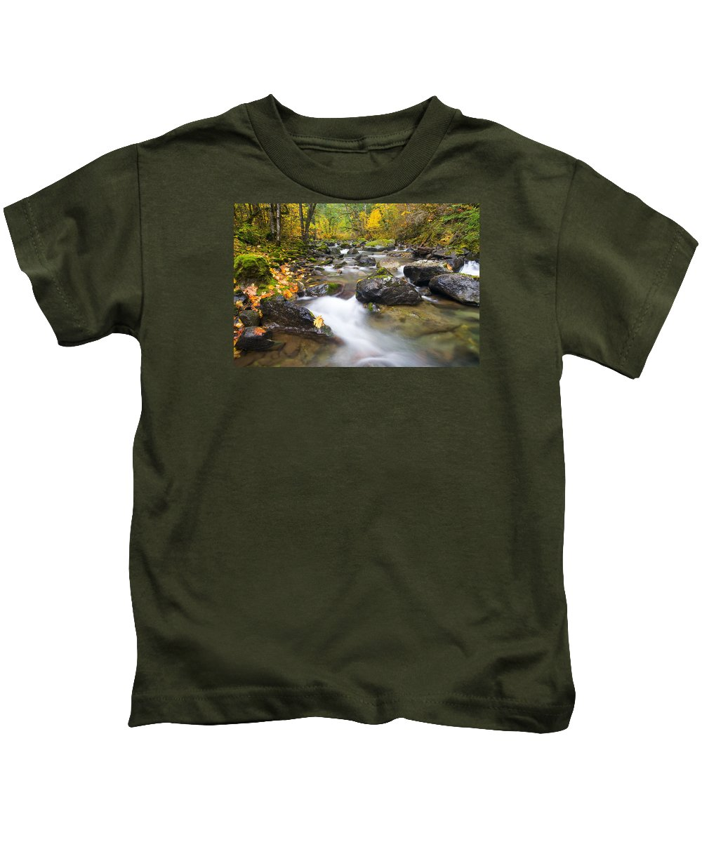 Fall Kids T-Shirt featuring the photograph Autumn Passing by Mike Dawson