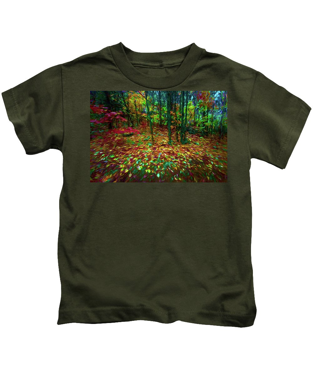 Michael Setiabudi Kids T-Shirt featuring the photograph Autumn H5 by Michelle Saraswati