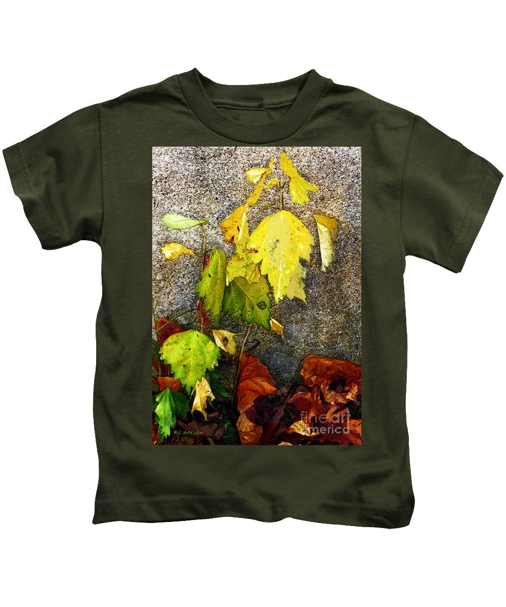 Autumn Kids T-Shirt featuring the painting Autumn Rainbow by RC DeWinter