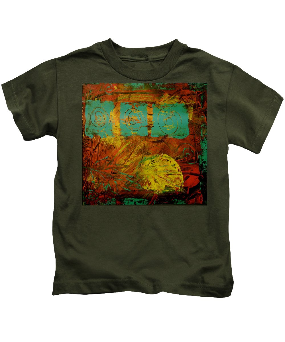 Acrylic Kids T-Shirt featuring the painting Autumn Reformated by Wayne Potrafka