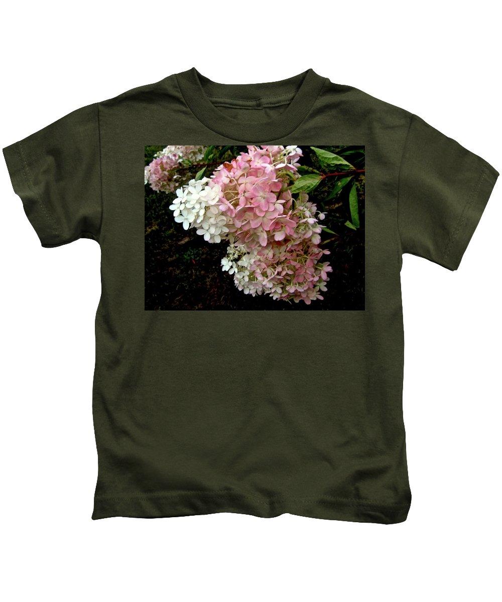 Hydrangea Kids T-Shirt featuring the photograph Autumn's Arrival by Elizabeth Tillar