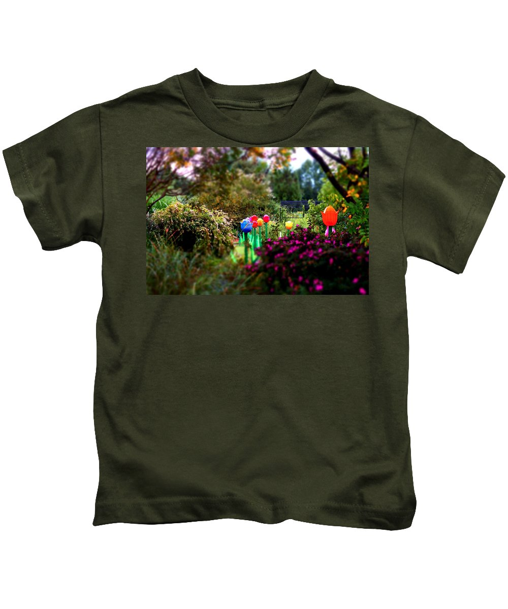 Kids T-Shirt featuring the photograph Avenue Of Dreams 7 by Rodney Lee Williams