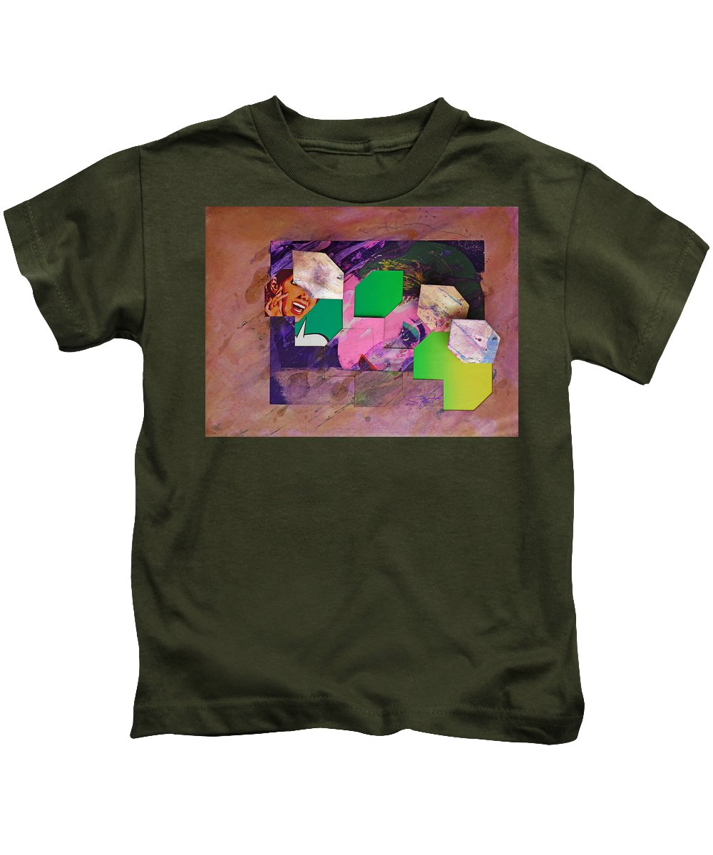 Psycho Kids T-Shirt featuring the mixed media Back In The 1950s by Charles Stuart