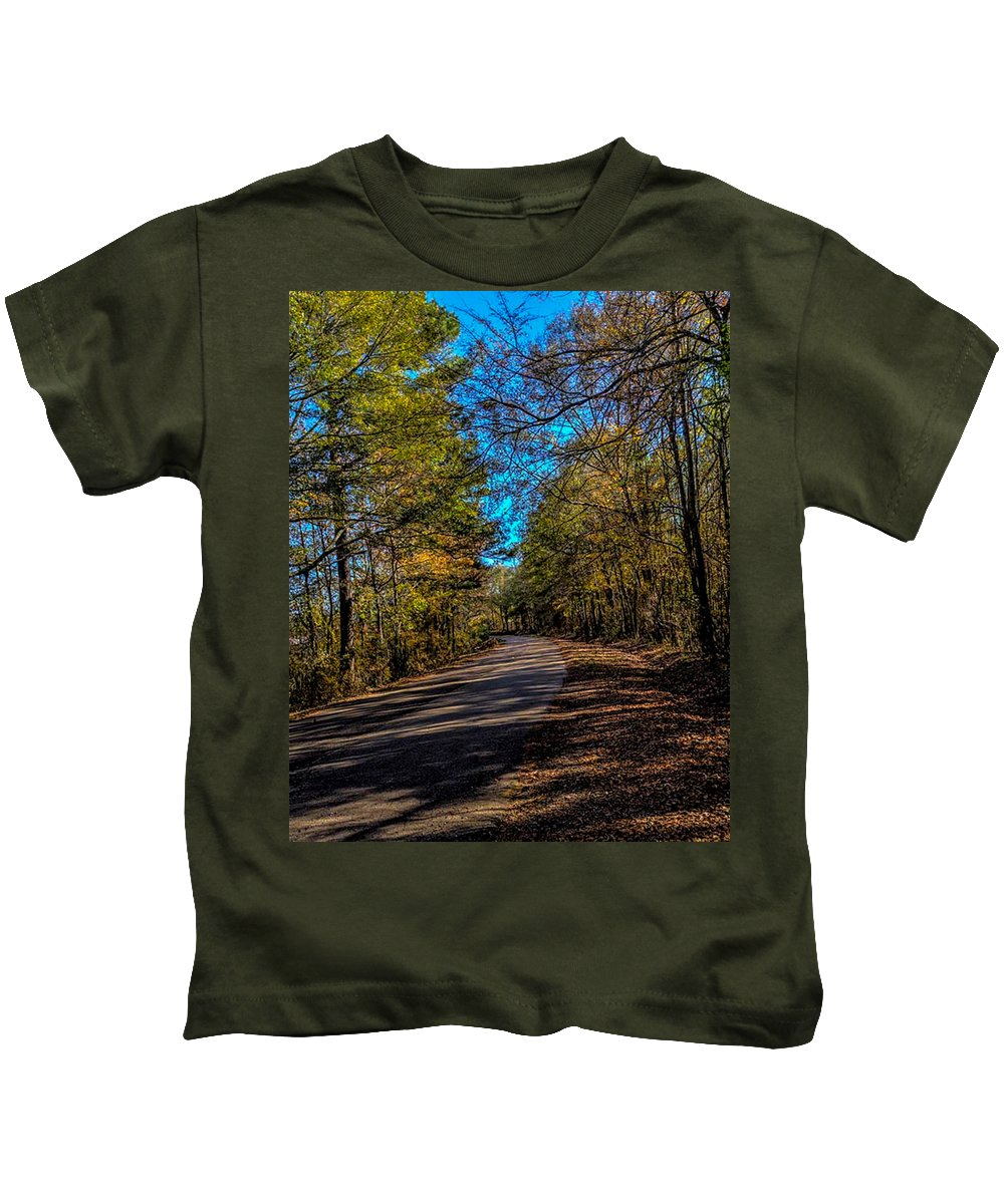 Back Roads Kids T-Shirt featuring the photograph Back Road 5 by Thomas Warner