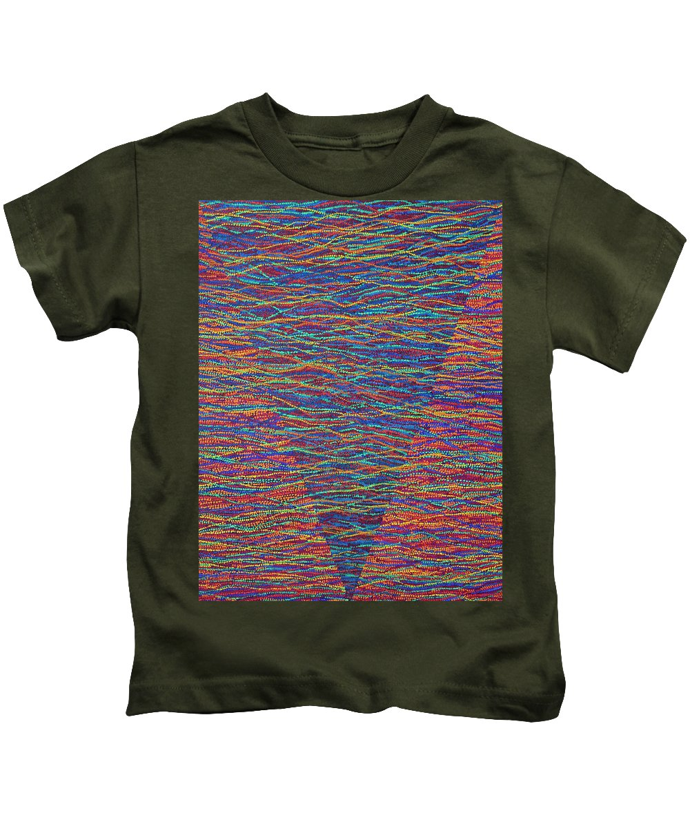 Spiritual Kids T-Shirt featuring the painting Back To Heaven 1 by Kyung Hee Hogg