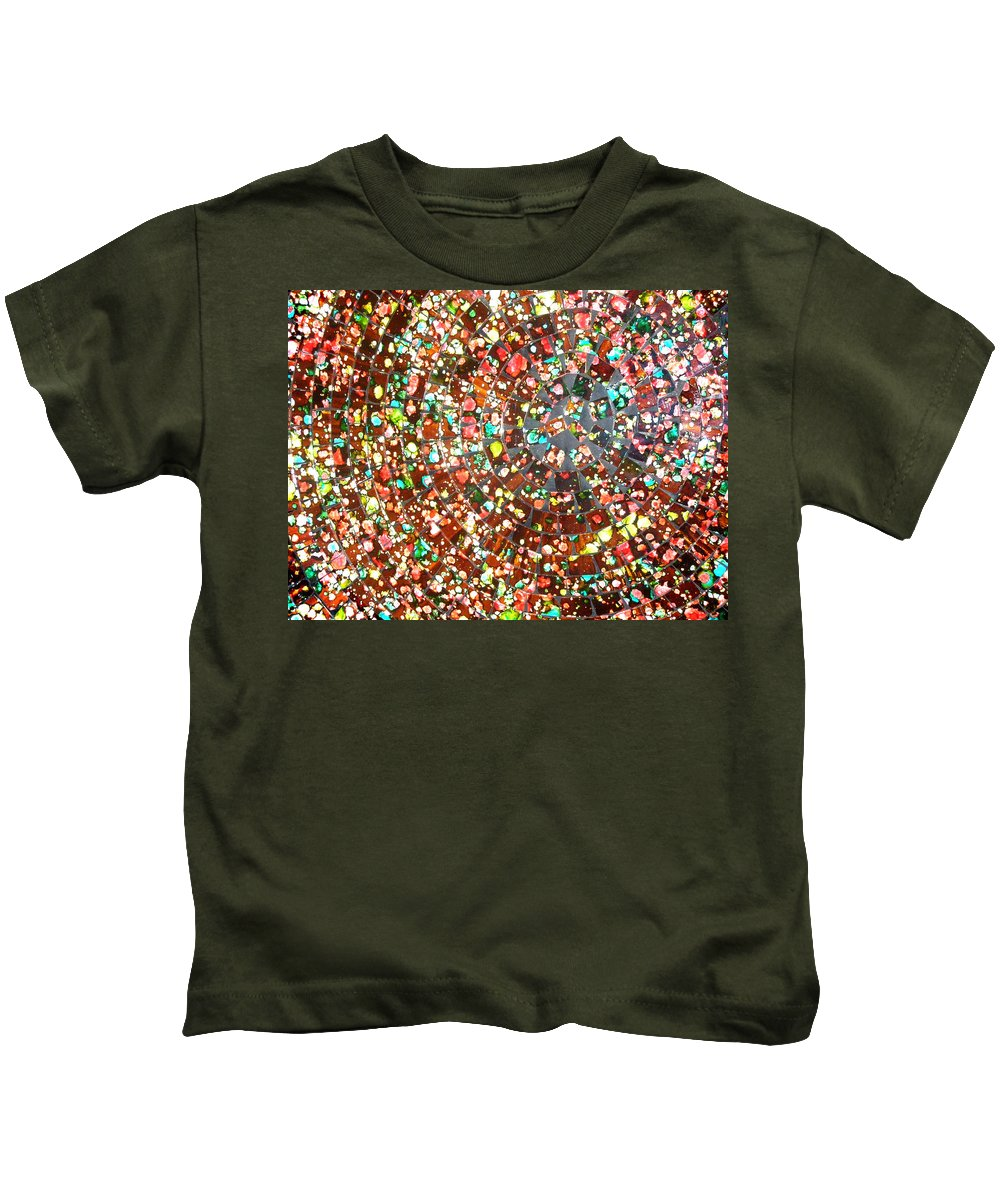 Art Kids T-Shirt featuring the photograph Balinese Glass Tile Art by Mark Sellers