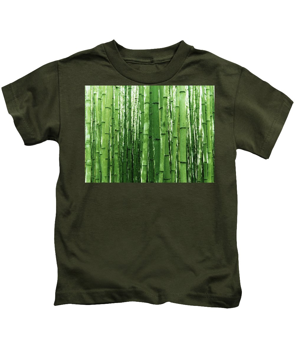 Bamboo Kids T-Shirt featuring the digital art Bamboo by Dorothy Binder