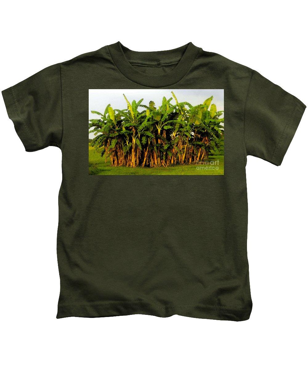 Banana Trees Kids T-Shirt featuring the painting Banana Trees by David Lee Thompson