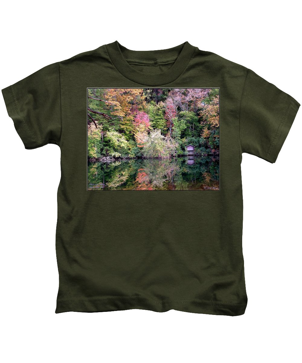 Nature Kids T-Shirt featuring the photograph Barn In The Mirror by Robert Meanor