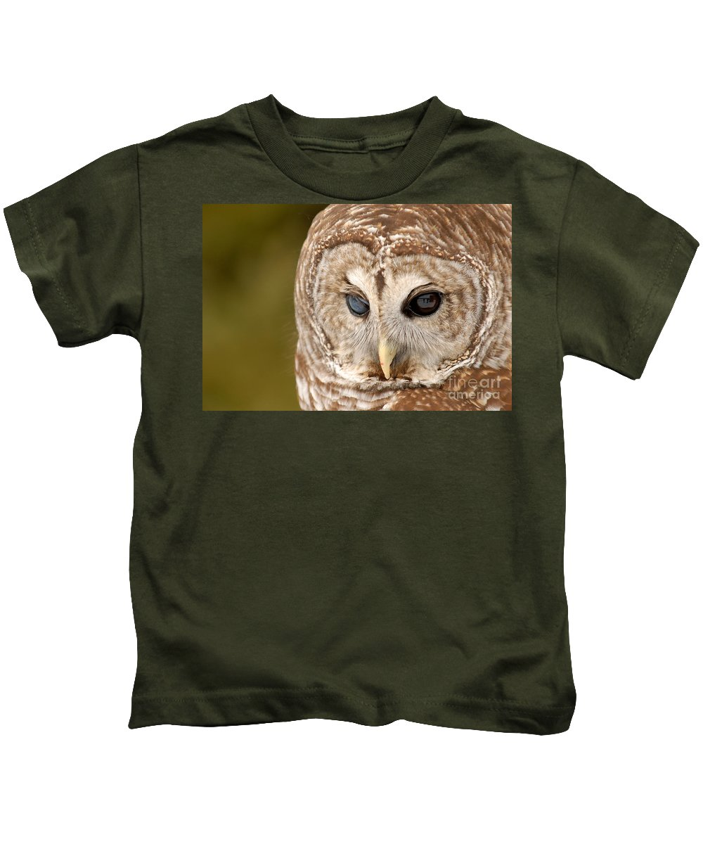Barred Kids T-Shirt featuring the photograph Barred Owl by Kristin Yata
