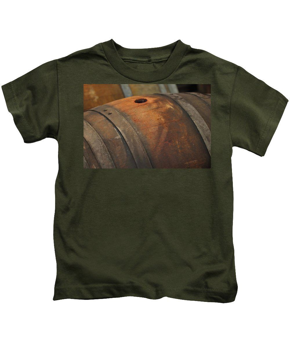 Beer Kids T-Shirt featuring the photograph Barrel by Brandon Bourdages