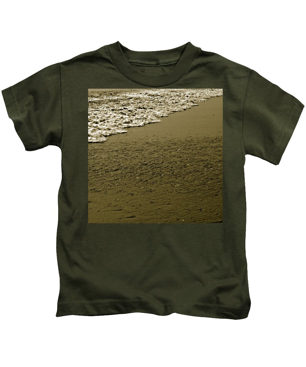 Water Kids T-Shirt featuring the photograph Beach Texture by Jean Macaluso