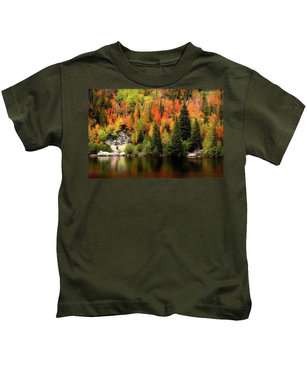 Autumn Kids T-Shirt featuring the photograph Bear Lake Autumn by Lesley Prentice