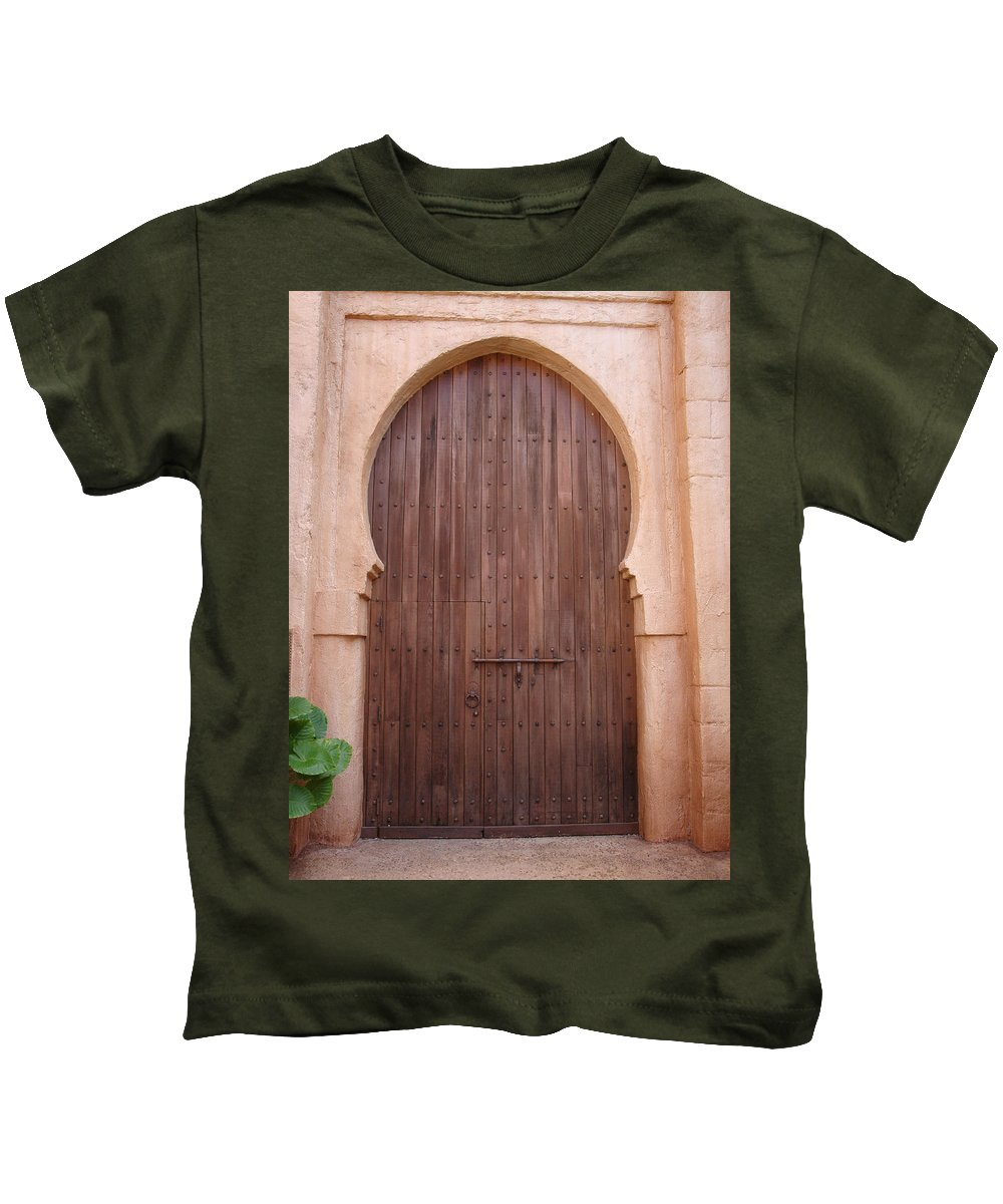 Arch Kids T-Shirt featuring the photograph Beautiful Arched Doors by Kim Chernecky