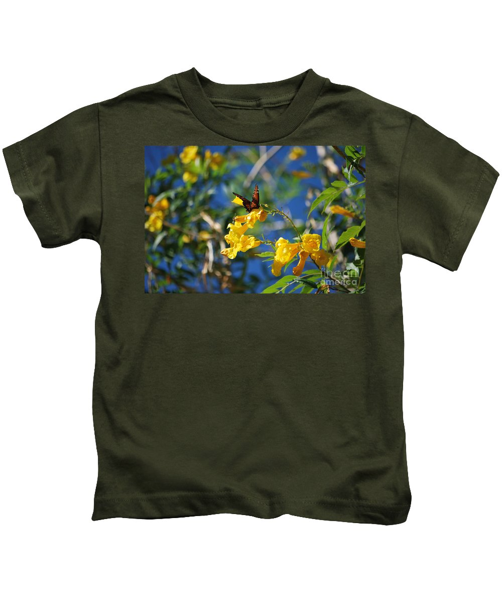 Butterfly Kids T-Shirt featuring the photograph Beautiful Butterfly by Donna Greene