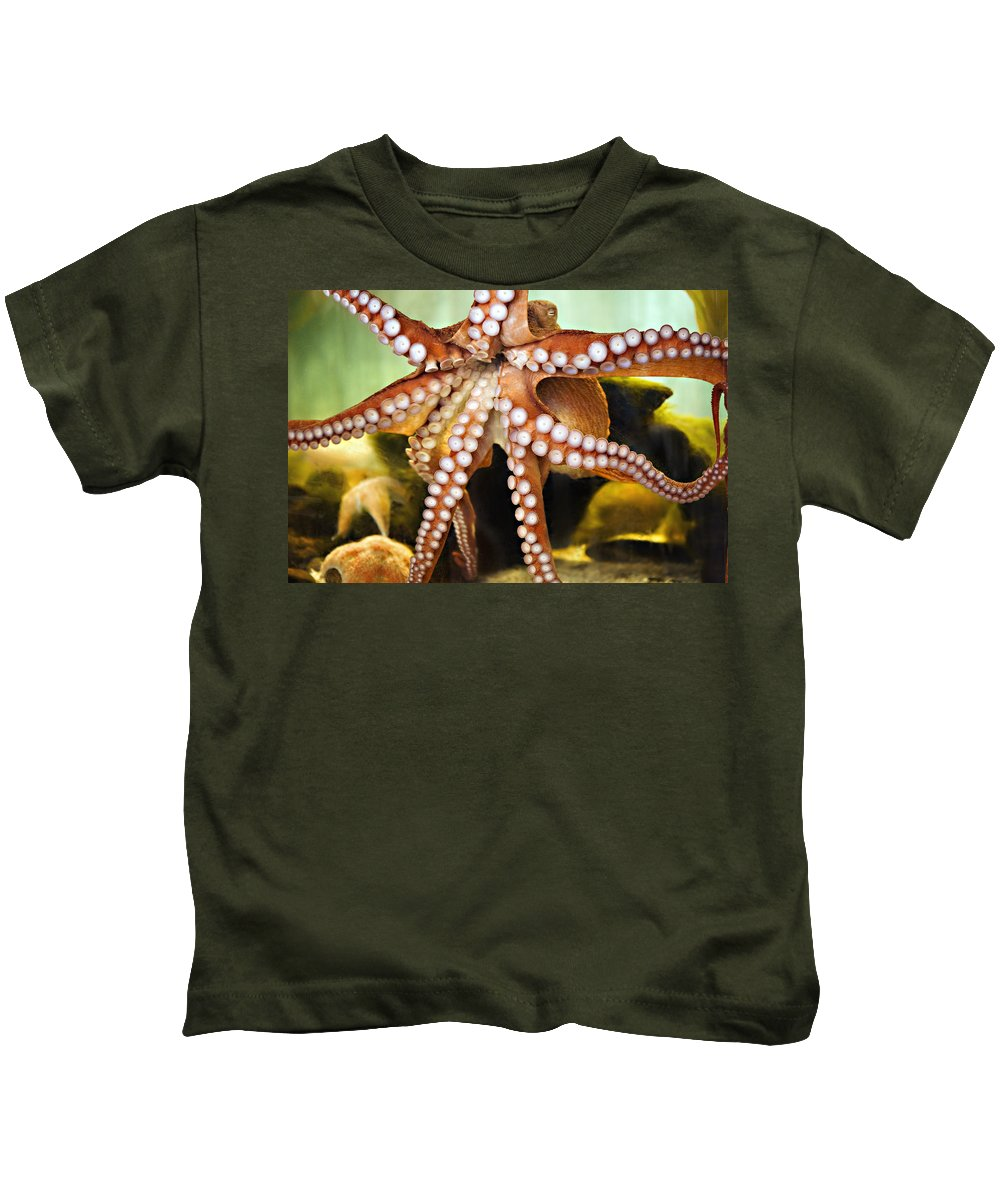 Octopus Kids T-Shirt featuring the photograph Beautiful Octopus by Marilyn Hunt