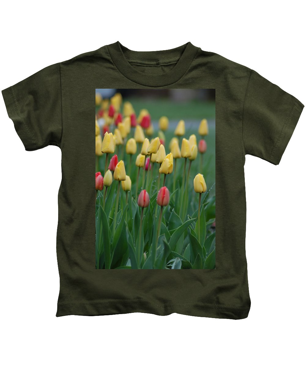 Tulips Kids T-Shirt featuring the photograph Beautiful Tulips by Donna Bentley
