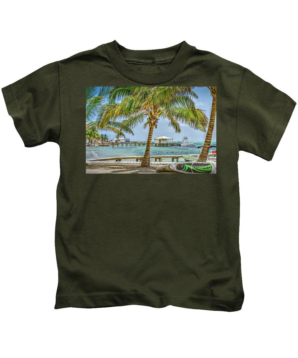 San Pedro Belize Kids T-Shirt featuring the photograph Beautifull Day In Paradise by David Zanzinger