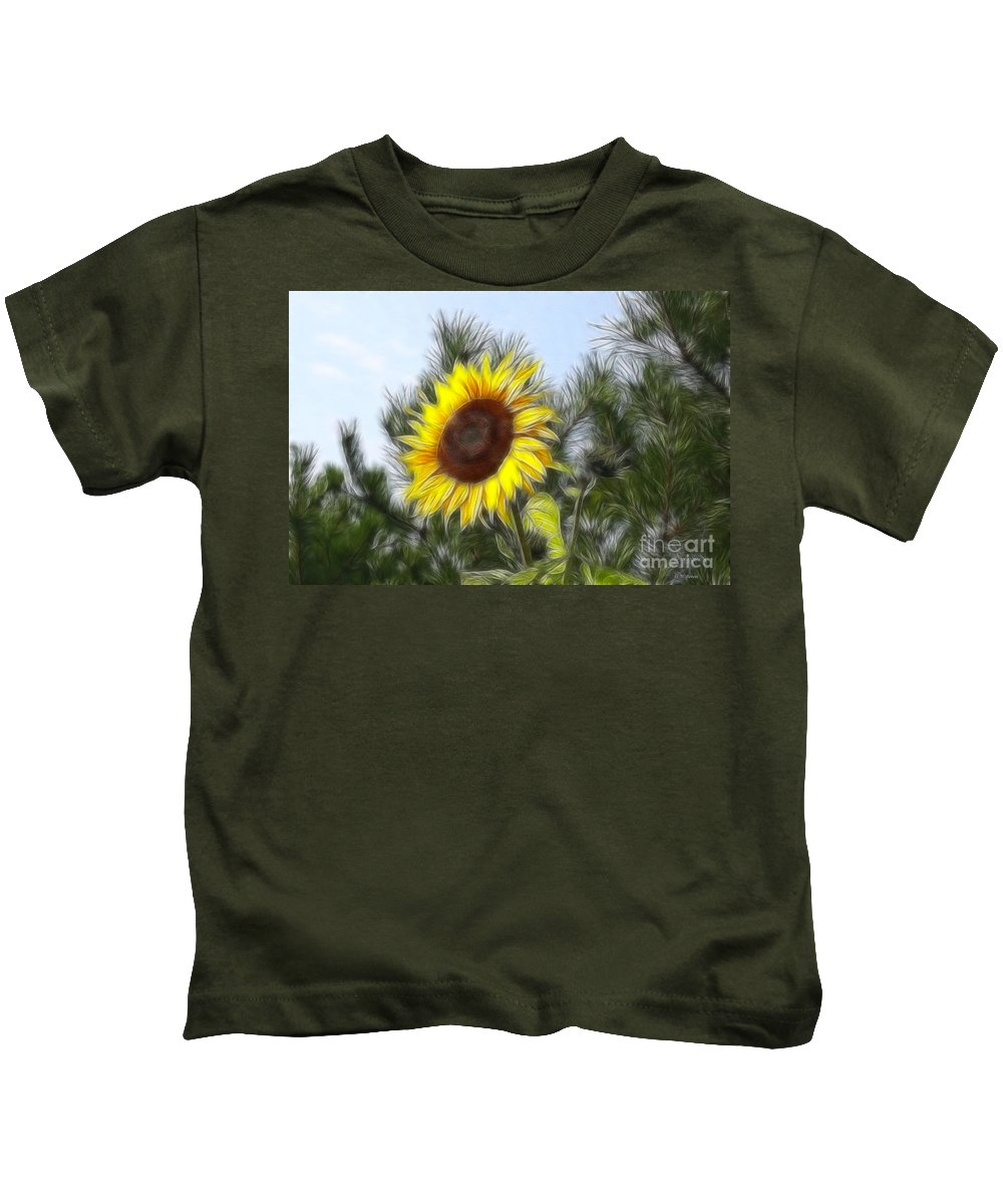 Fratalius Kids T-Shirt featuring the photograph Beauty In The Pines by Deborah Benoit