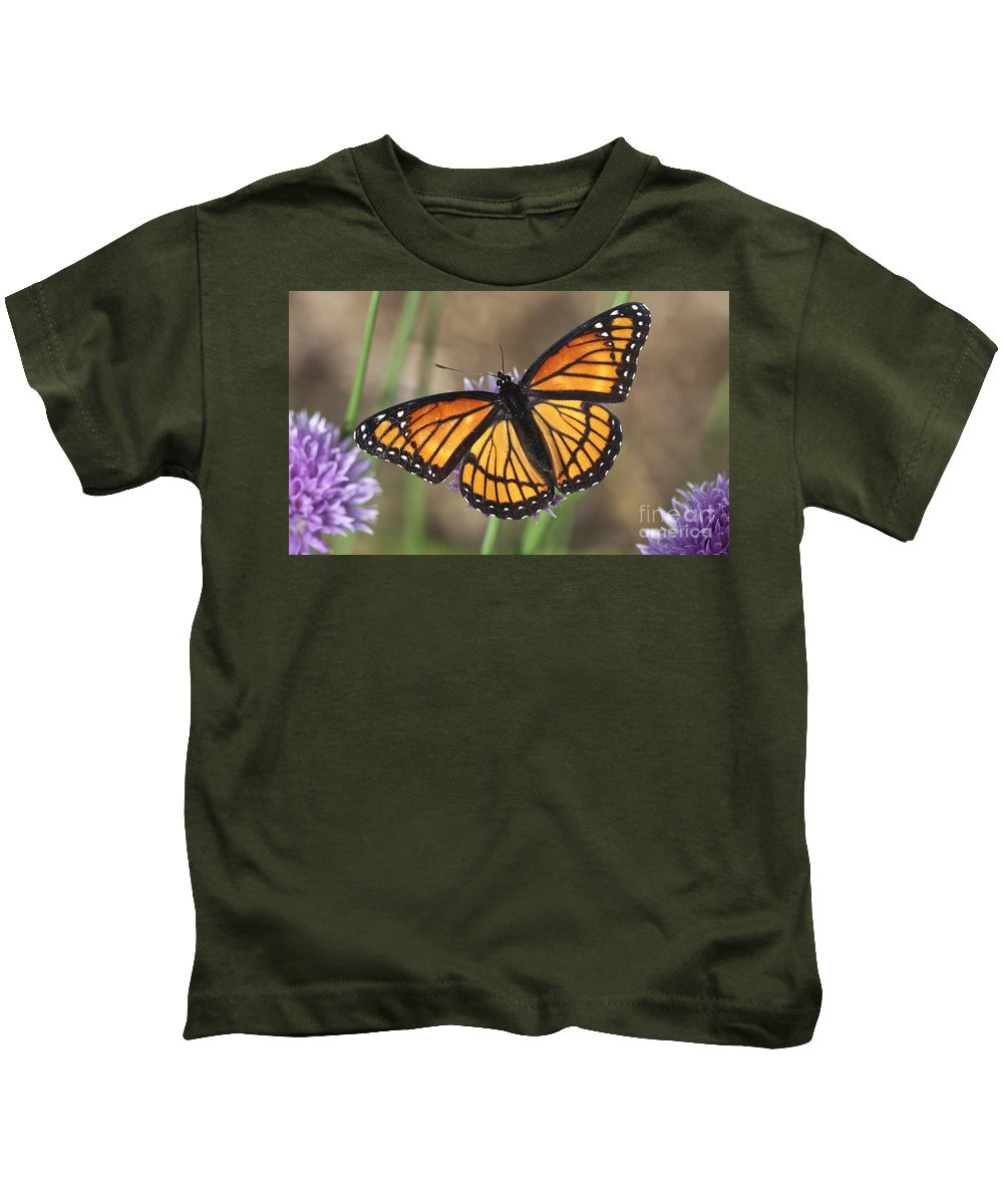 Kids T-Shirt featuring the photograph Beauty With Wings by Deborah Benoit