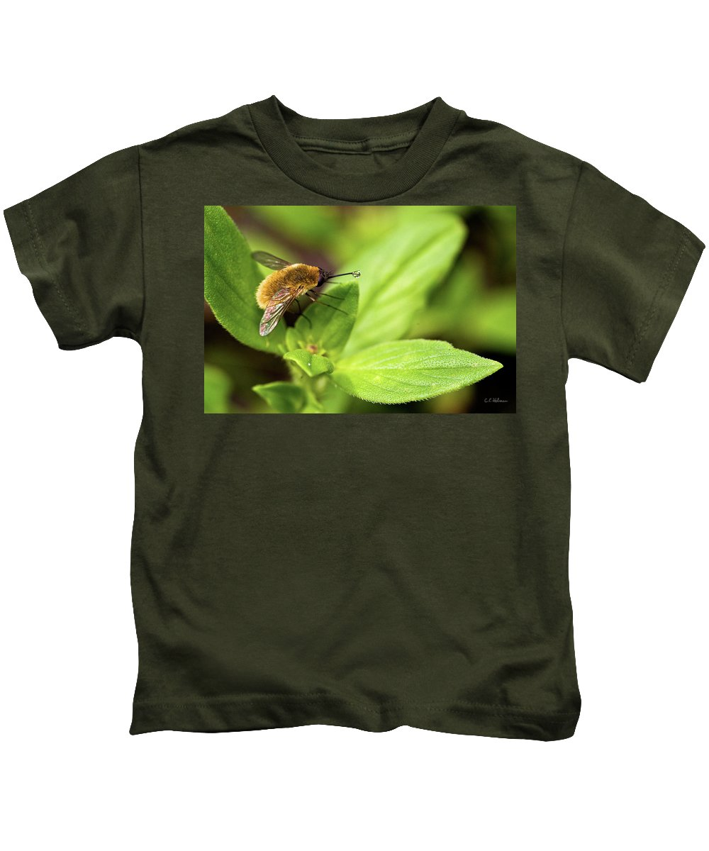 Beefly Kids T-Shirt featuring the photograph Beefly by Christopher Holmes