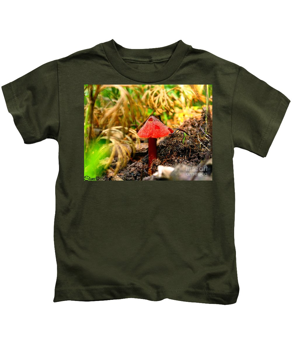 Mushroom Kids T-Shirt featuring the photograph Before The Trip by September Stone