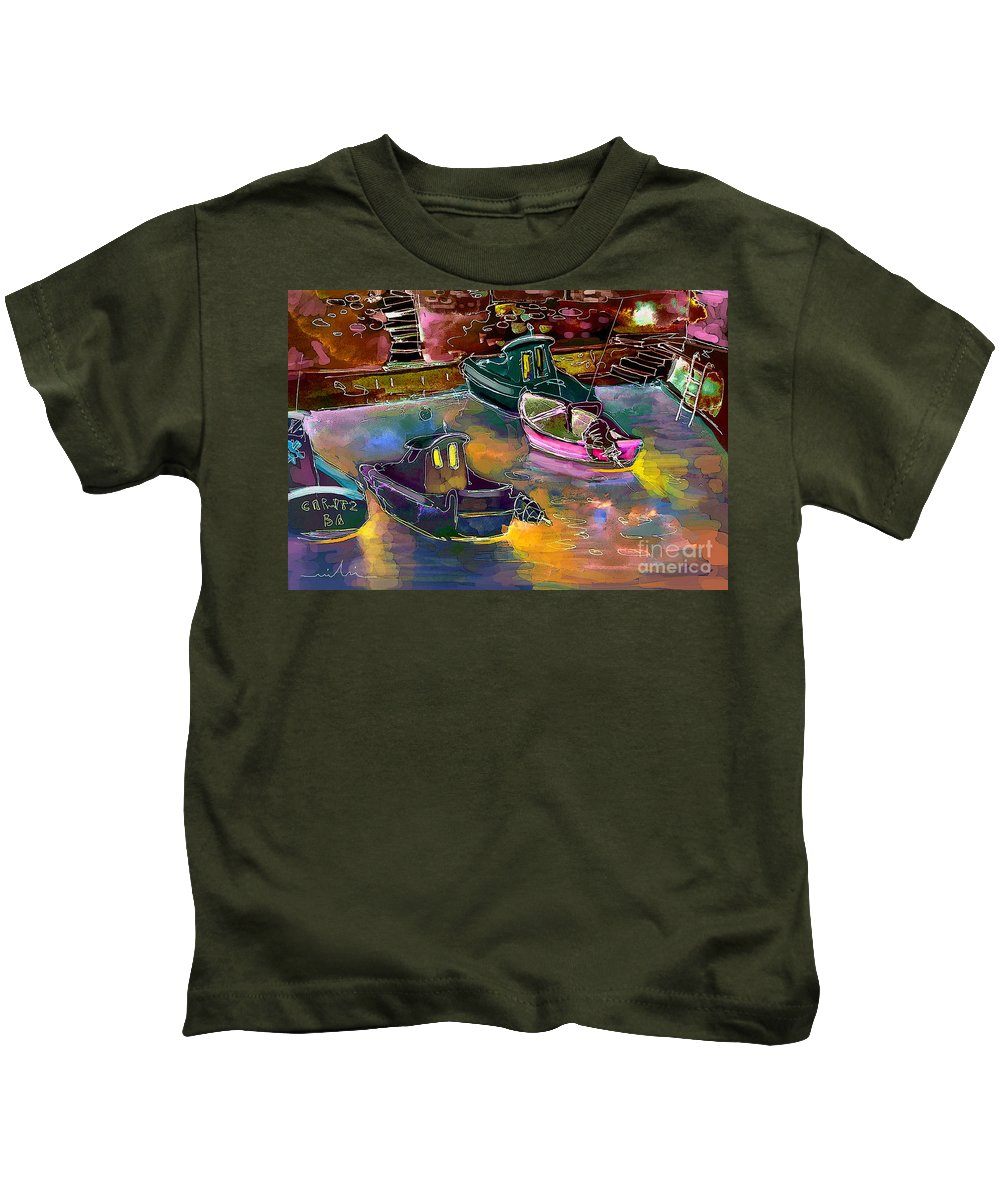 Biarritz Kids T-Shirt featuring the painting Biarritz 13 Bis by Miki De Goodaboom