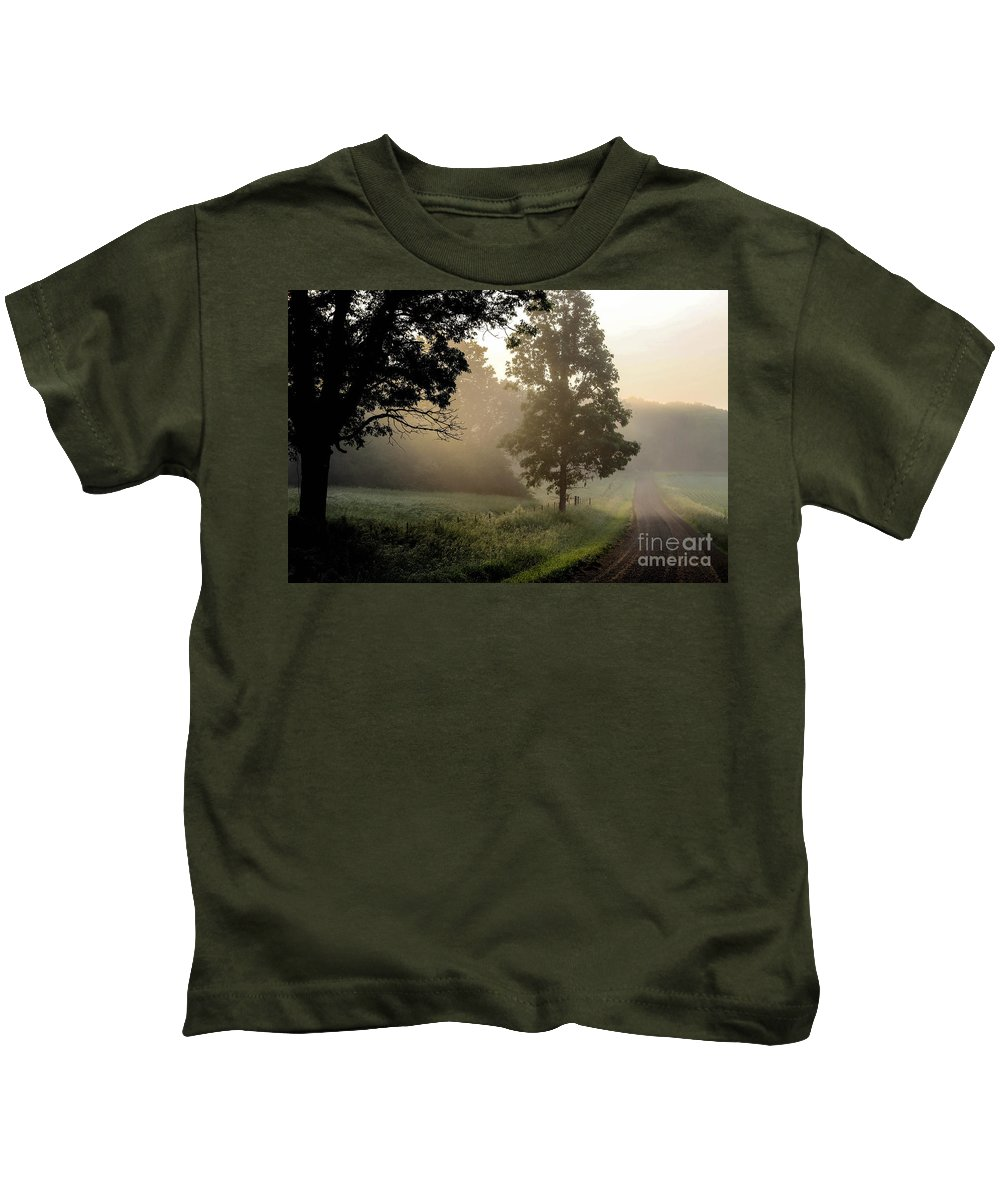 Country Kids T-Shirt featuring the photograph Big Valley Mist by Doug Daniels