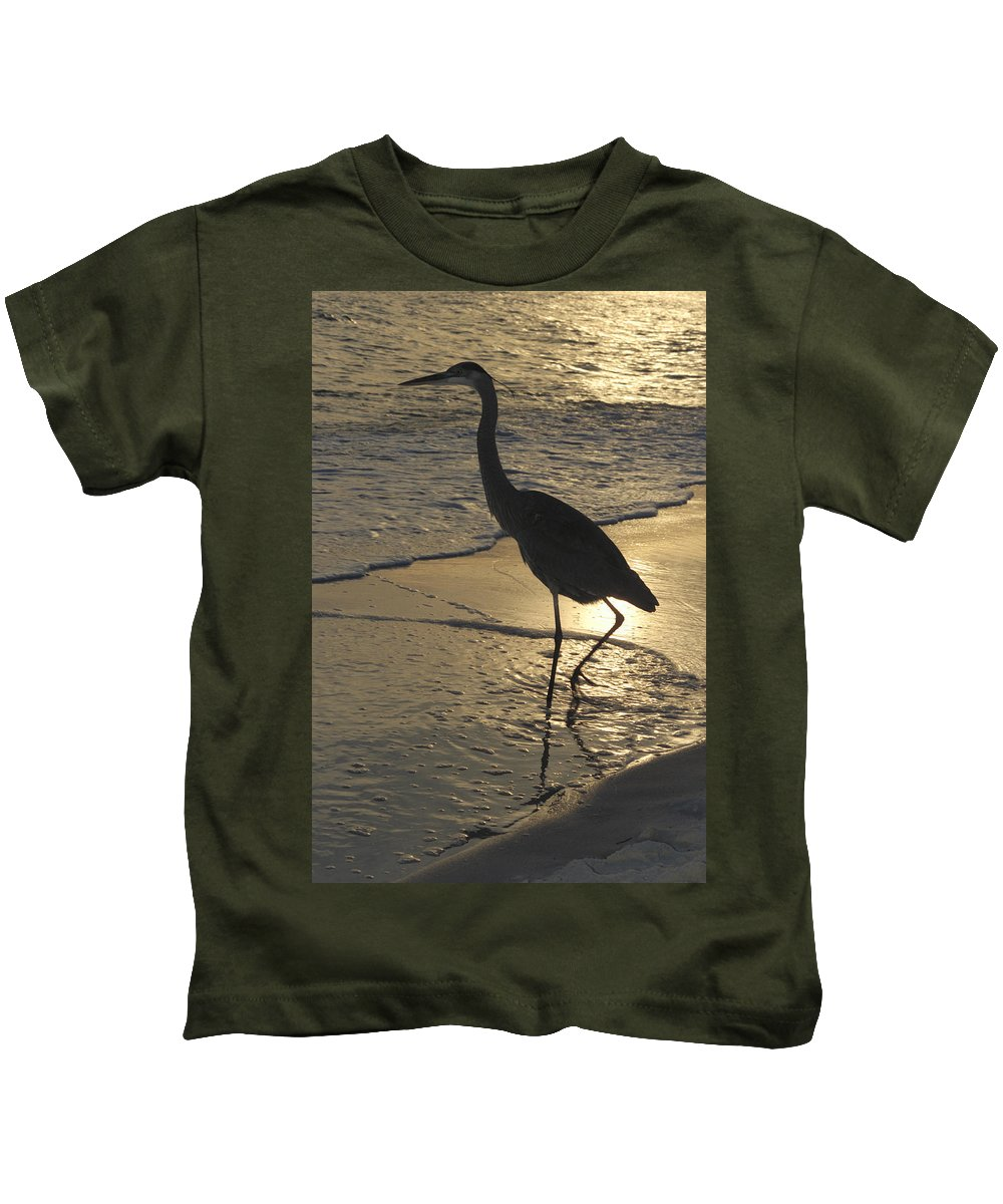Heron Kids T-Shirt featuring the photograph Bird In Paradise by Jerry McElroy