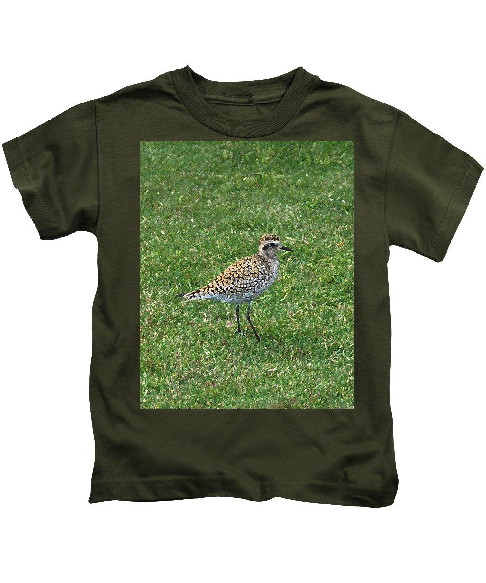Hawaii Kids T-Shirt featuring the photograph Birdie by Carol Eliassen